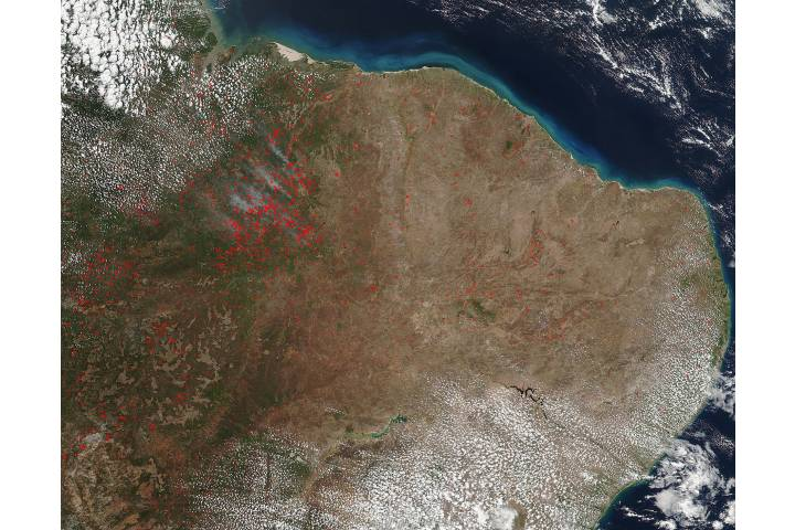Fires in eastern Brazil - selected image
