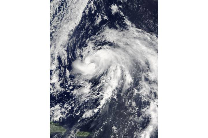 Tropical Storm Nicole (15L) in the western Atlantic - selected image