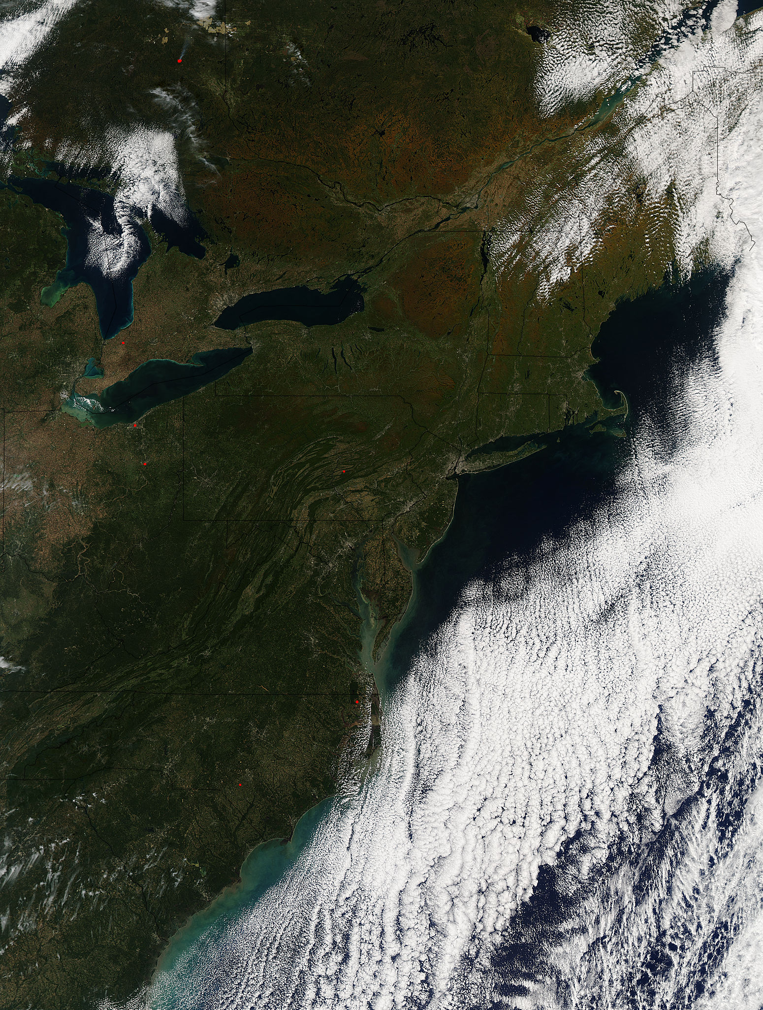 Fall colors in eastern Canada and United States - related image preview