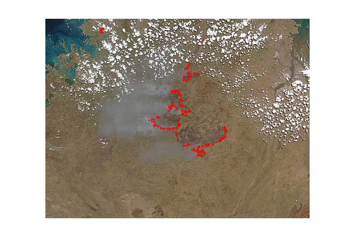 Fires in northwestern Australia - selected image