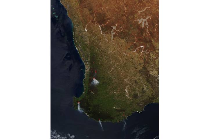 Fires in southwestern Australia - selected image