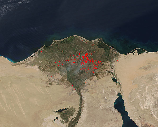 Fires in the Nile River Delta - related image preview