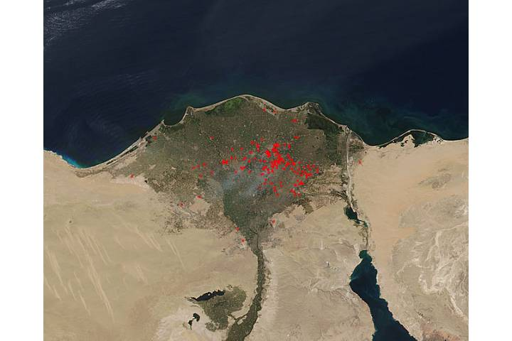 Fires in the Nile River Delta - selected image