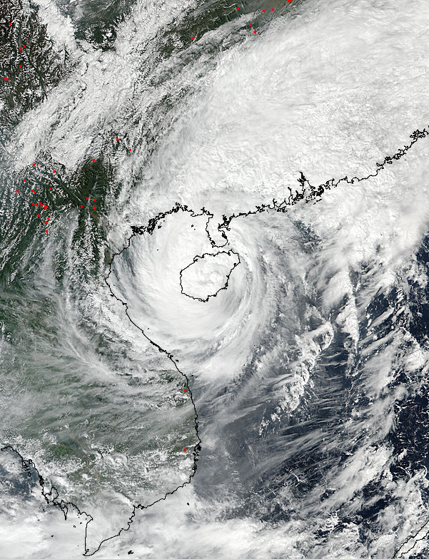 Tropical Storm Sarika (24W) over China - related image preview