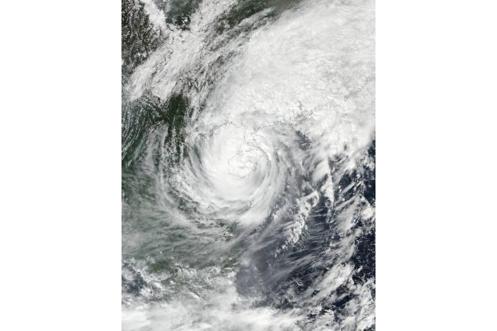 Tropical Storm Sarika (24W) over China - selected image