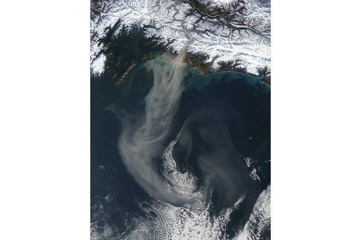 Dust storm off Alaska - selected image