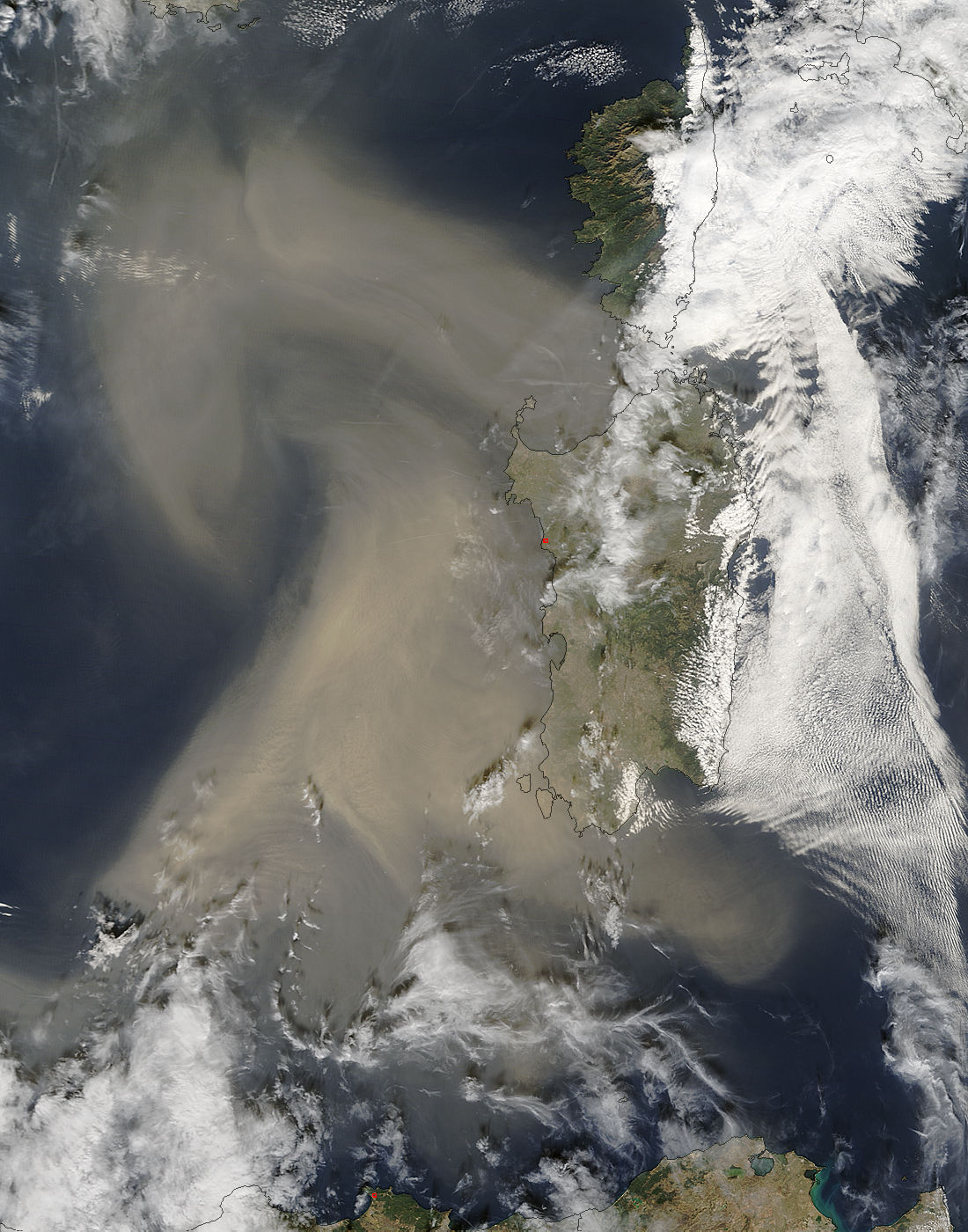Dust storm over the Mediterranean Sea - related image preview
