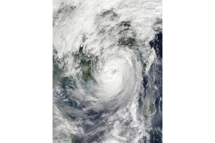 Typhoon Haima (25W) over China - selected image