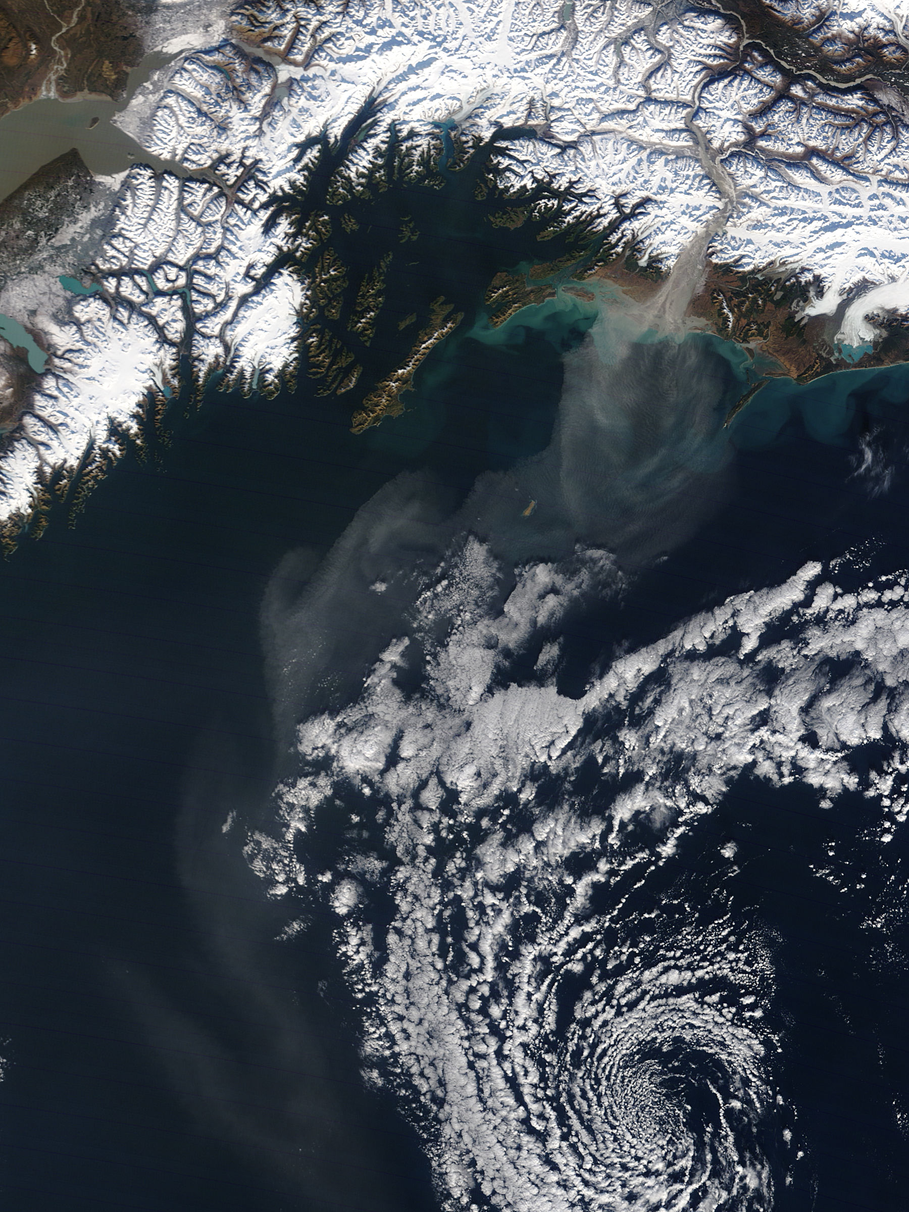Dust storm off Alaska - related image preview
