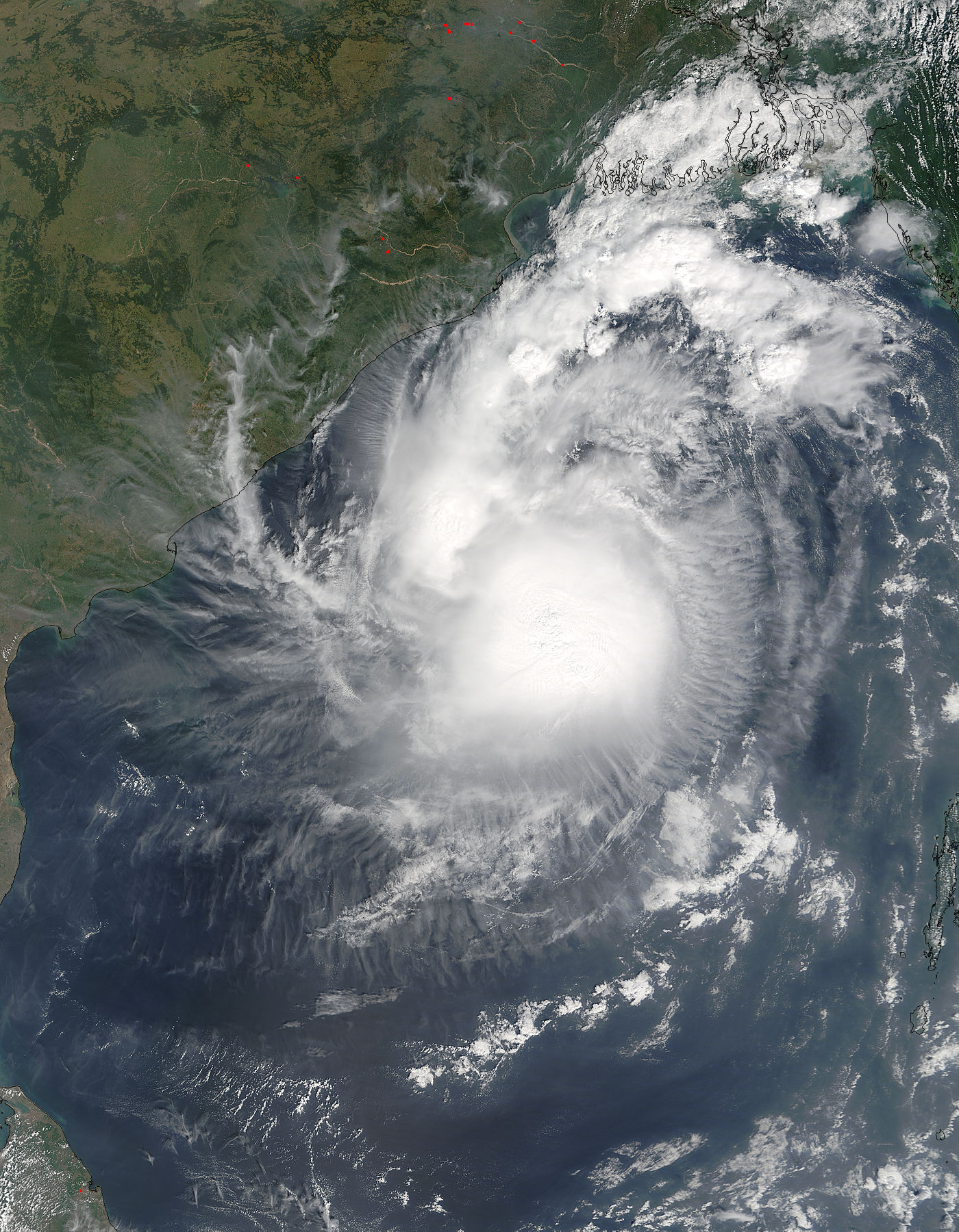 Tropical Cyclone Kyant (03B) in the Bay of Bengal - related image preview