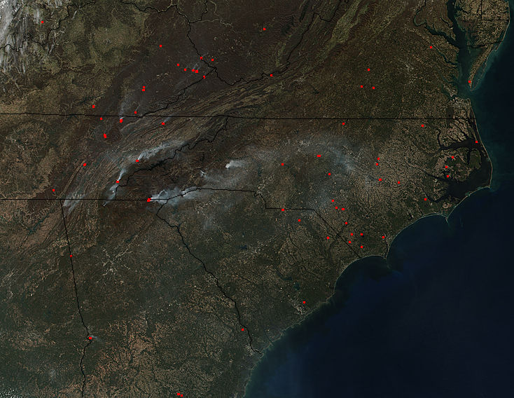 Fires across the southeastern United States - related image preview