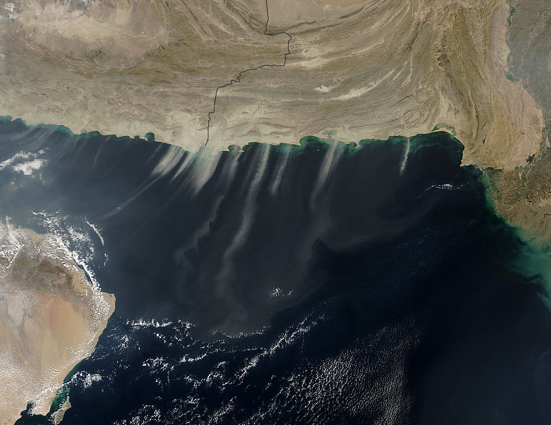 Dust storms over the Arabian Sea (afternoon overpass) - related image preview