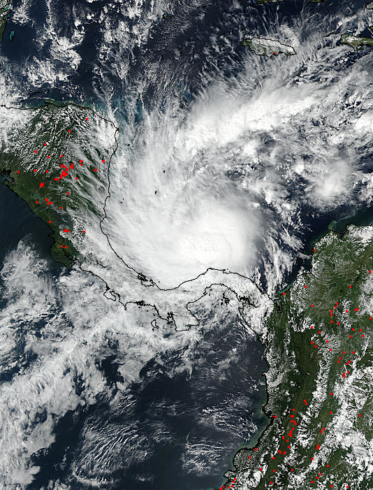 Hurricane Otto (16L) in the Caribbean Sea - related image preview