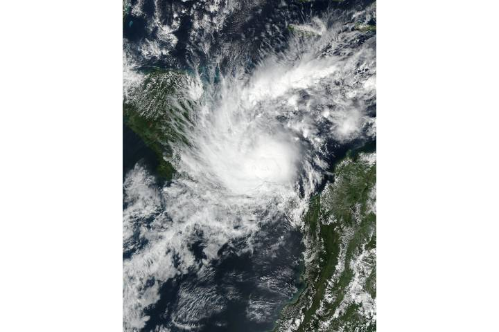 Hurricane Otto (16L) in the Caribbean Sea - selected image