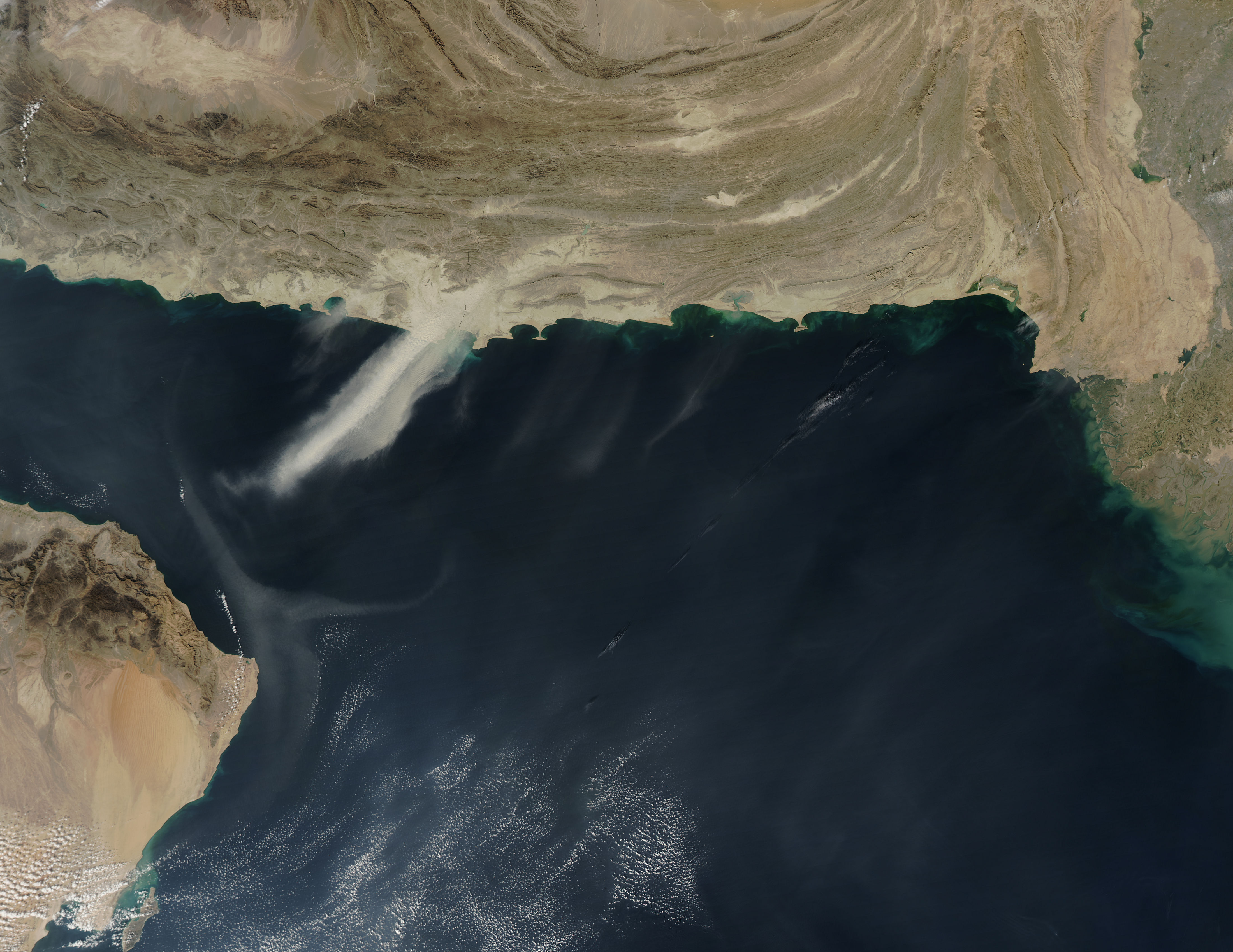 Dust storms over the Arabian Sea - related image preview