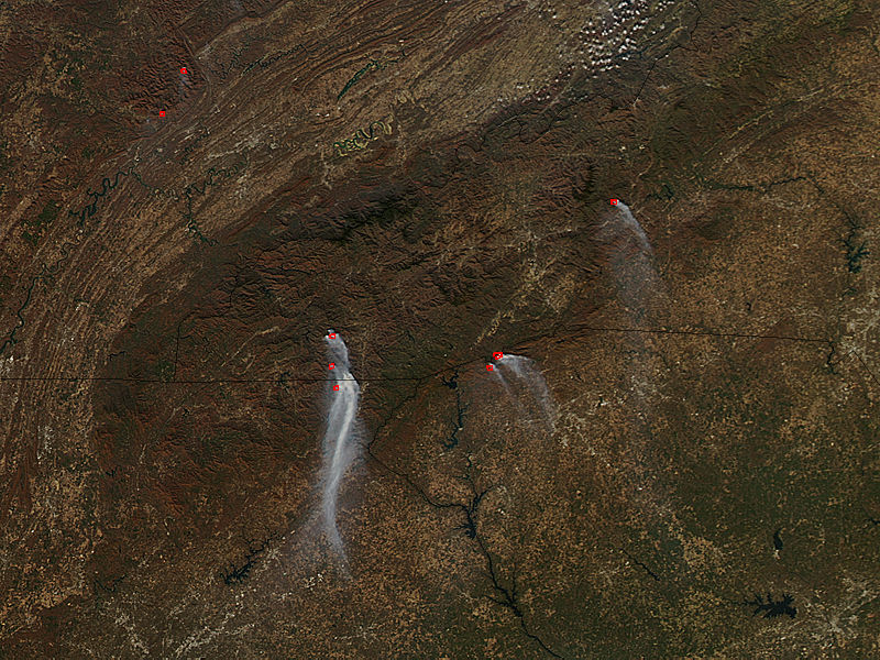 Wildfires in southeastern United States - related image preview