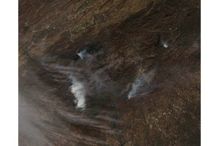 Wildfires in southeastern United States - selected image
