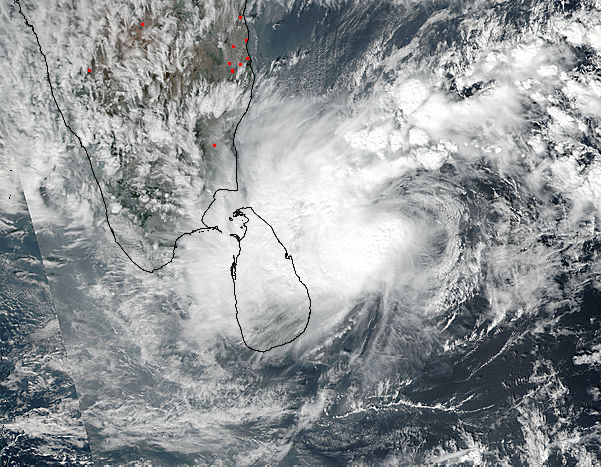 Tropical Cyclone Four (04B) over Sri Lanka - related image preview