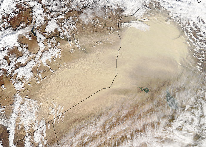 Dust storm in the Middle East (morning overpass) - related image preview