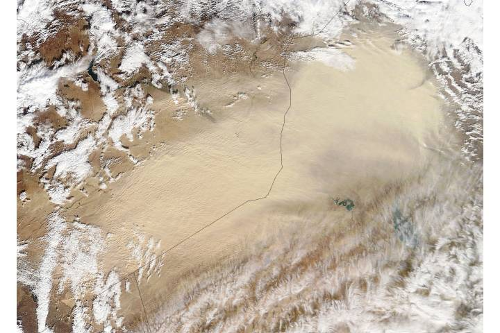 Dust storm in the Middle East (morning overpass) - selected image