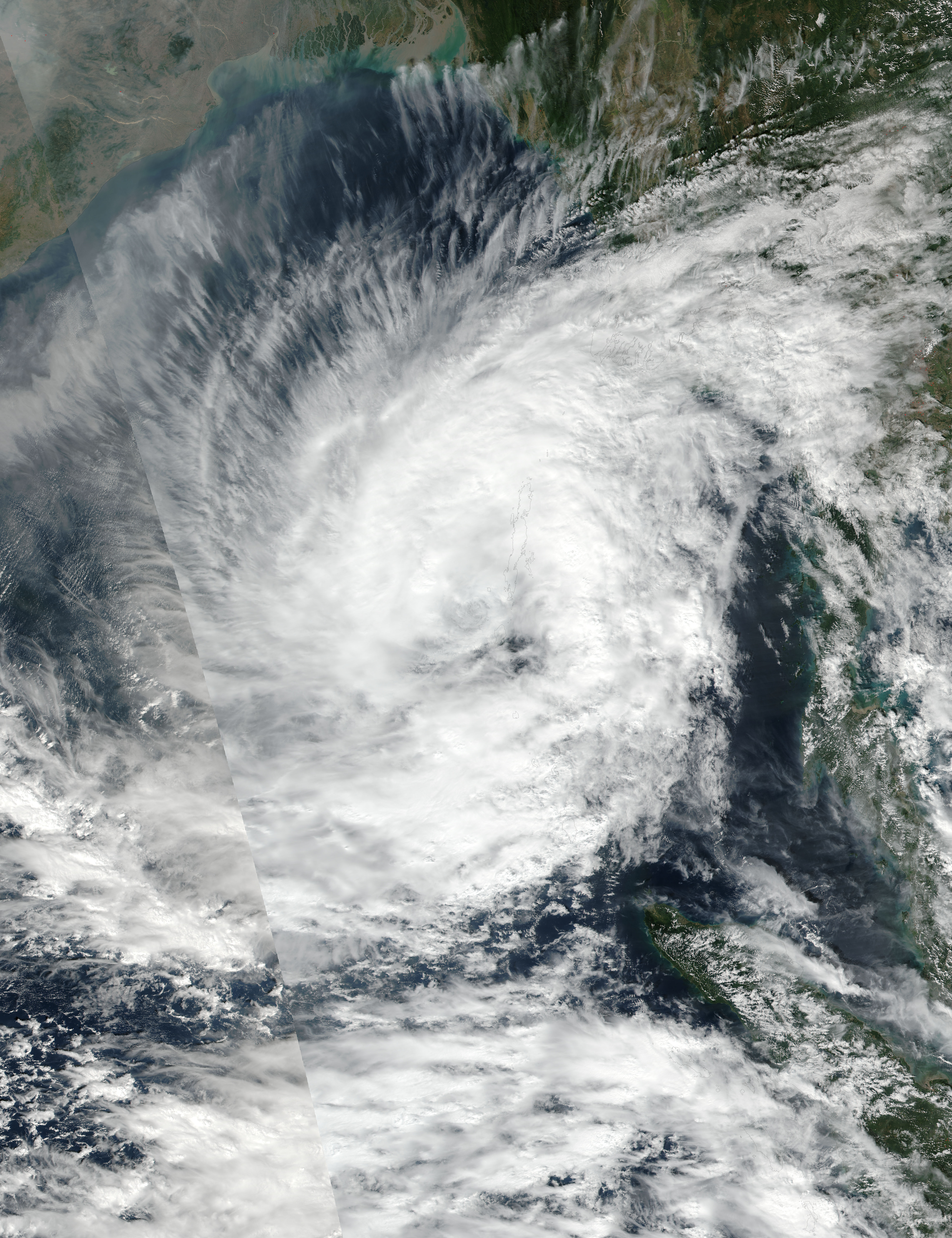 Tropical Cyclone Vardah (05B) in the Bay of Bengal - related image preview