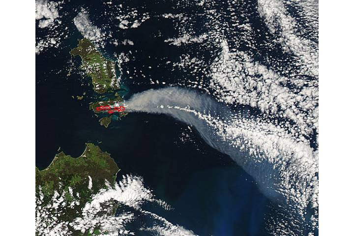 Fires on Cape Barren Island, Australia - selected image