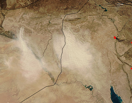 Dust storms in the Middle East - related image preview