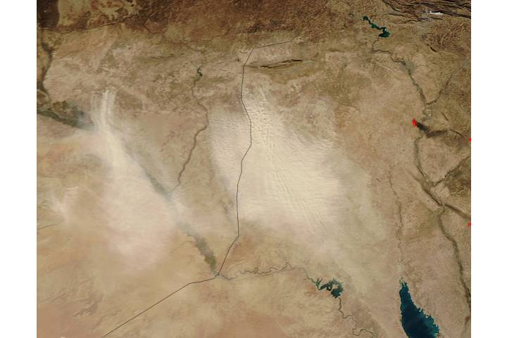 Dust storms in the Middle East - selected image