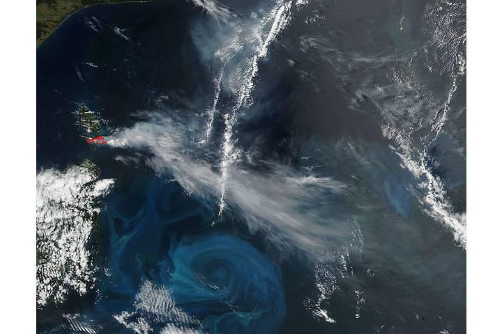 Fires on Cape Barren Island, Australia - selected image