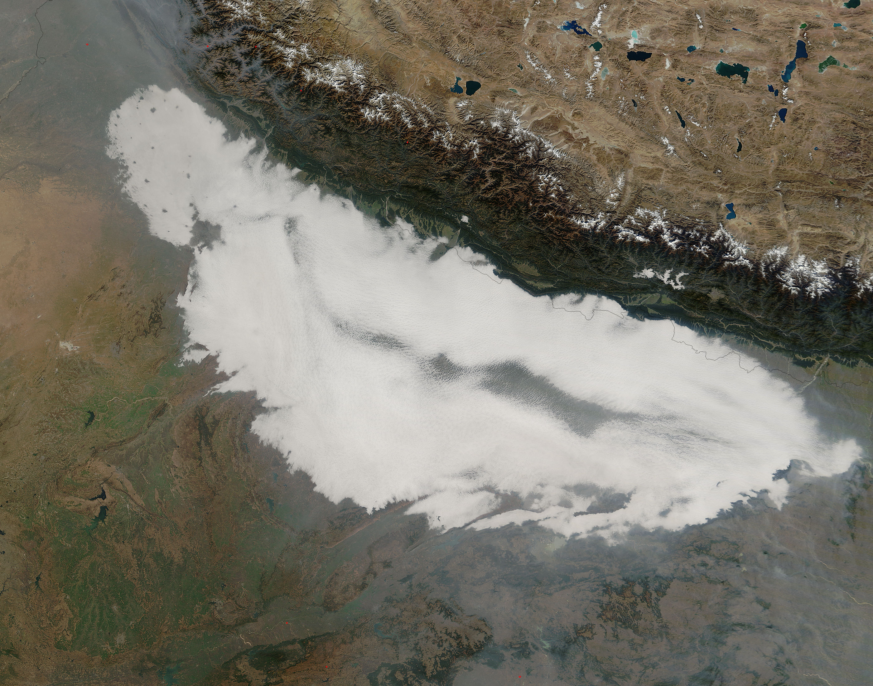 Low morning clouds over northern India - related image preview
