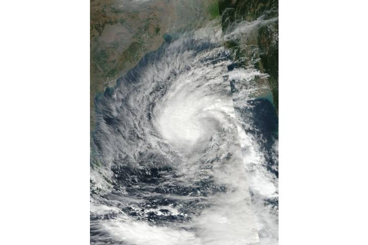Tropical Cyclone Vardah (05B) in the Bay of Bengal - selected image