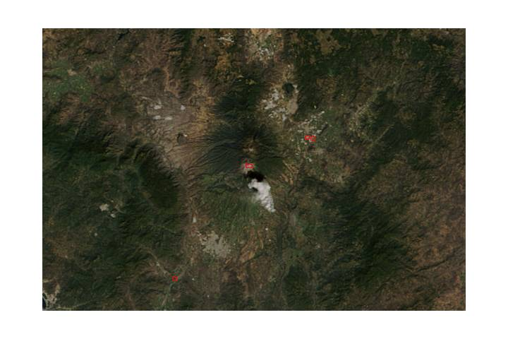 Eruption of Colima volcano, Mexico - selected image