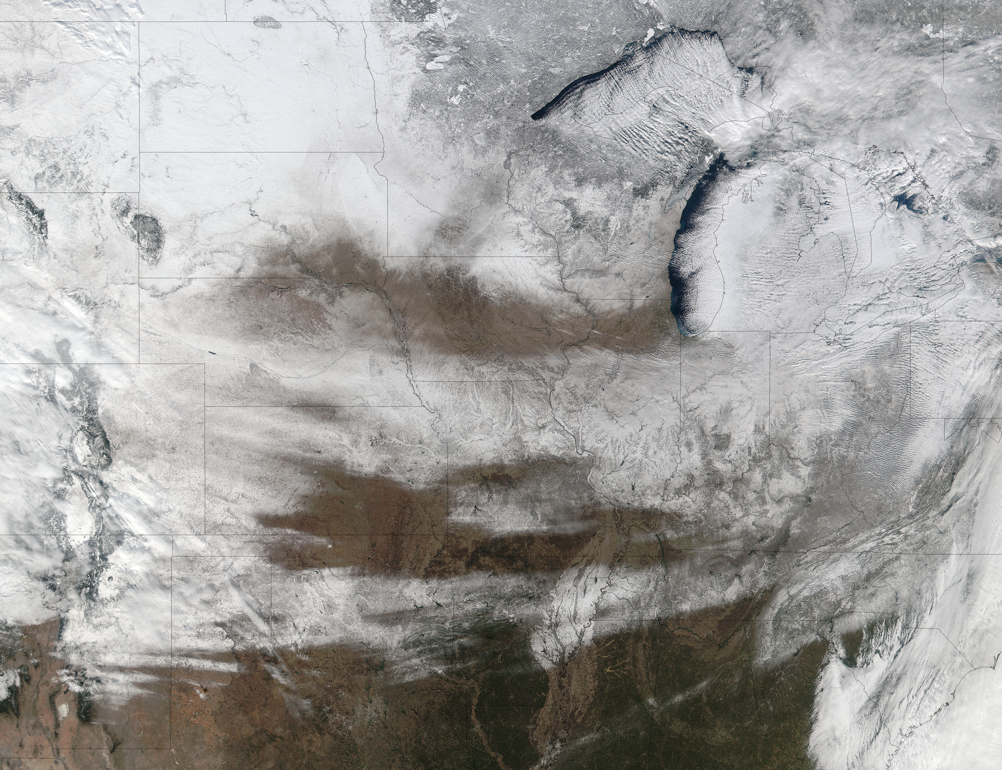 Snow across the central United States - related image preview