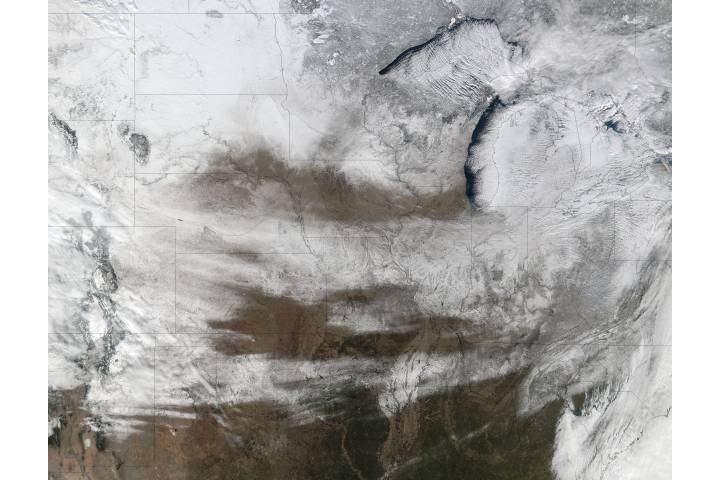 Snow across the central United States - selected image
