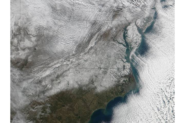 Snow in the southeastern United States - selected image