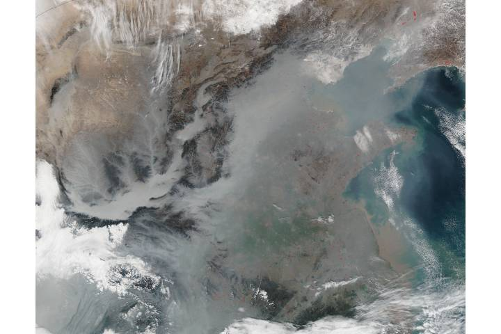 Haze over eastern China - selected image