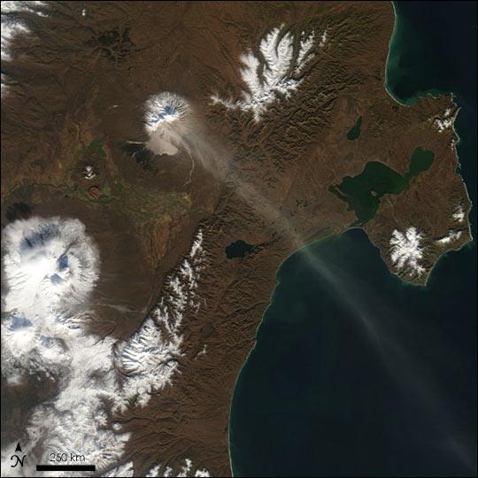 Sheveluch Volcano Erupts