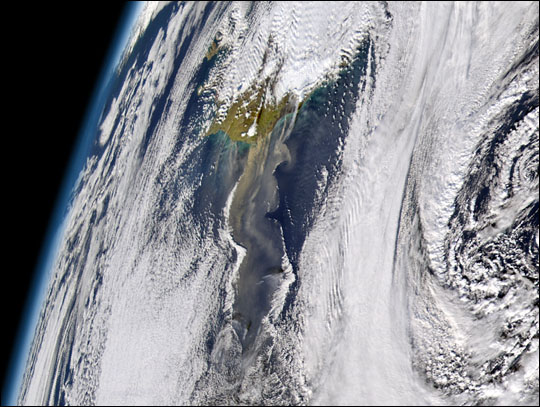 Dust Storm off Iceland