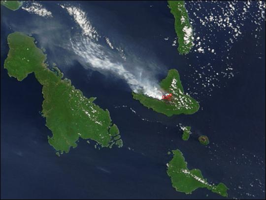 Eruption at Ambrym Volcano