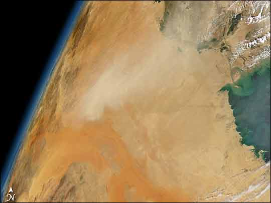 Dust Storm over Saudi Arabia