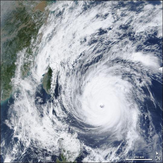 Typhoon Nock-Ten strikes Taiwan