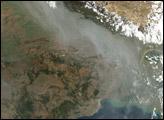 Haze along the Himalaya Front Range