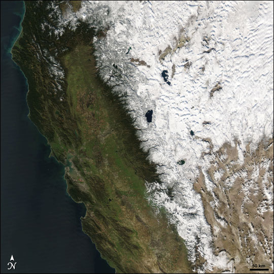 Snow Across the Western United States