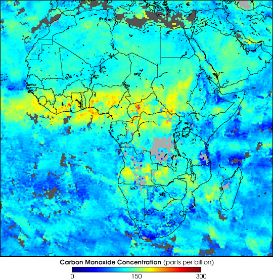 Carbon Monoxide over Africa - related image preview