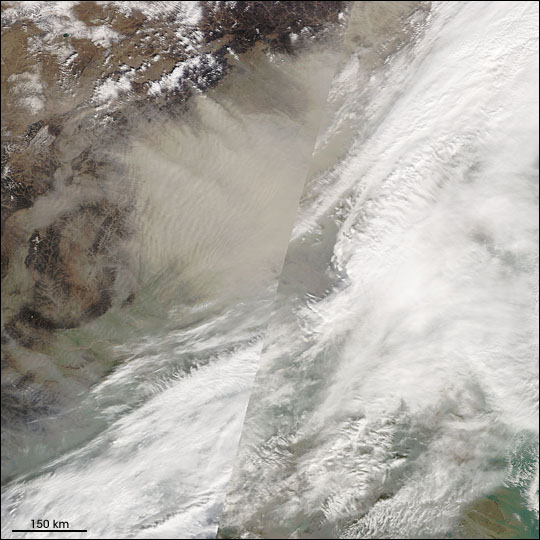 Dust Storm over East China