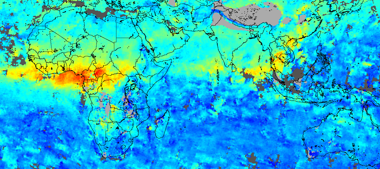 Carbon Monoxide in Africa and Asia - related image preview