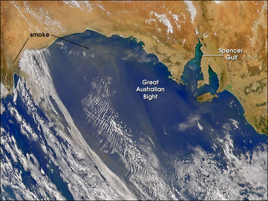 Smoke Over Great Australian Bight - related image preview