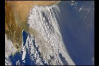 Smoke Over Great Australian Bight