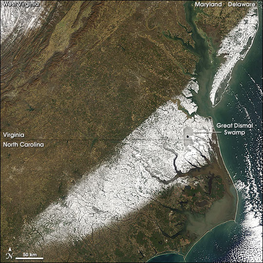 Winter Storm Slams North Carolina and Virginia