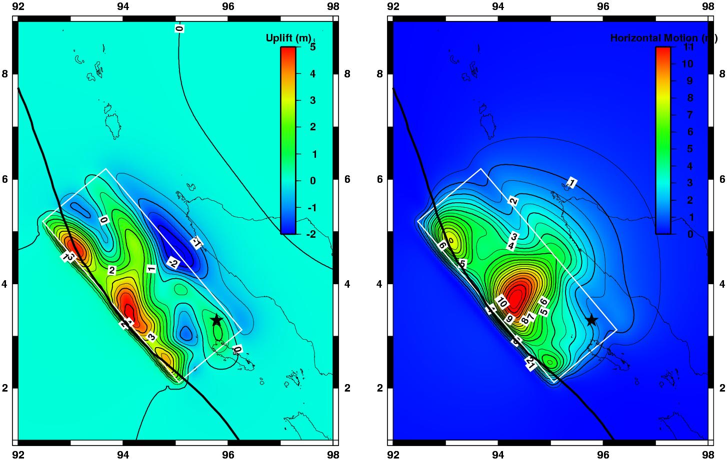 Uplift and Horizontal Motion from Tsunami-Generating Earthquake  - related image preview